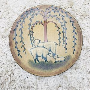 Decorative Wooden Sheep Plate